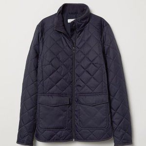 H&M L.O.G.G. Navy Quilted Jacket Sz 2